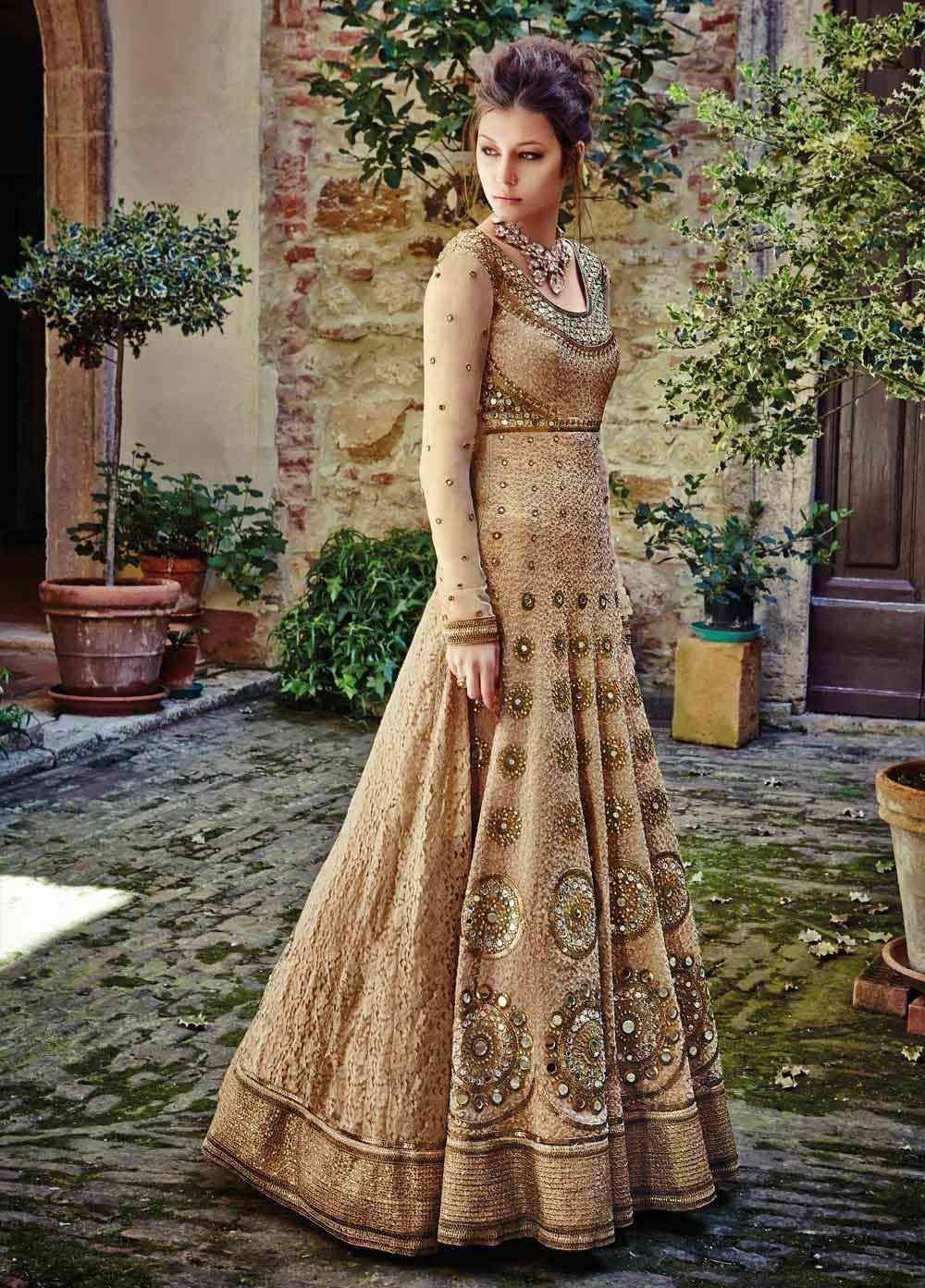 10 gorgeous muslim wedding dresses to look like an angel as a bride anarkali wedding ethnic dress ombrellifo Gallery