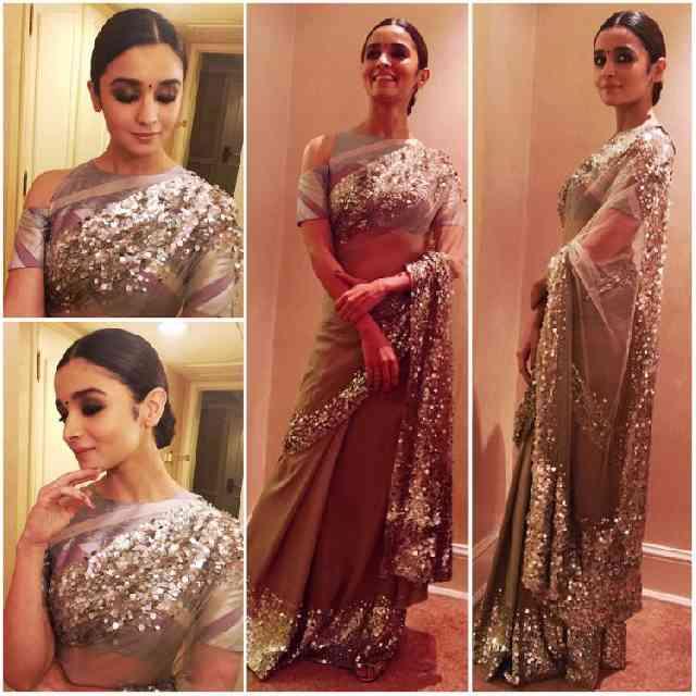 Loved Alia Bhatt In Black Saree Watch Her 8 Gorgeous Saree Look